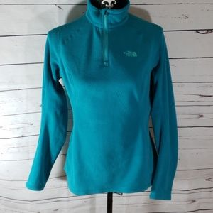 The North face 1/4 zip pullover fleece Small